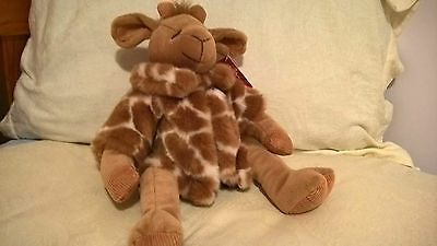 "bnwt RUSS HEARTCRAFT *GISELLA* GIRAFFE 16"" Plush Stuffed Animal Faux Fur Coat"