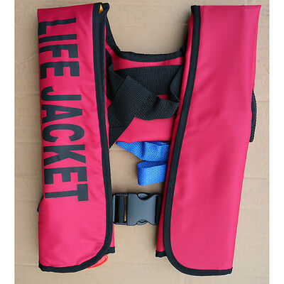 Adult Manual Automatic Inflatable Life Jacket Inflation 150N PFD Survival Vest