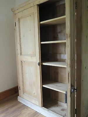 Vintage Antique Pine Storage Cupboard - Linen, Larder, Bookshelf, Storage