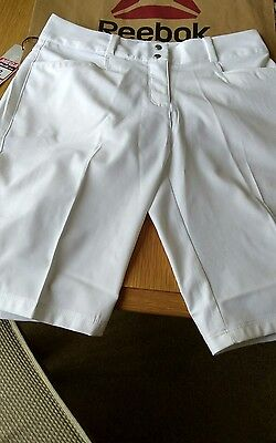 Adidas Womens Golf Shorts White Size Uk  6,new With Tags