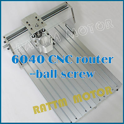 6040 Desktop CNC Router Engraving Milling Machine Ball screw Frame & 80mm Clamp