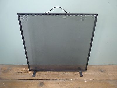 Flat black metal panel fireguard screen for fireplace *collection only*