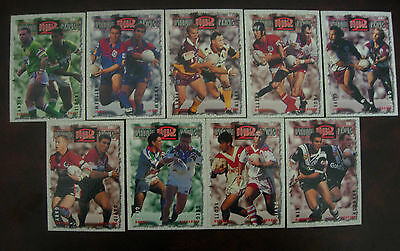 1995 Dynamic Rugby League Dynamic Double Plays Complete set of 9 Cards