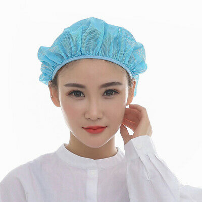 Newly Catering Cap Food Factory Elastic Worker Cap Stretchable Band Mesh Net Hat