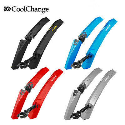 Cycling Bicycle Mudguards Mountain Bike Fenders Front & Rear Mud Guard Set Black
