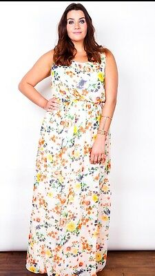 EXTRA LONG TALL (160cm) Floral Maxi Dress sizes 16/18-24/26 Plus ...