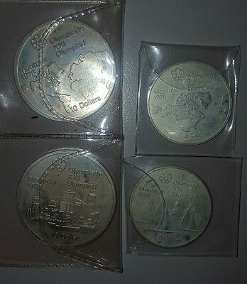 Silver Coins Montreal Olympics 1976
