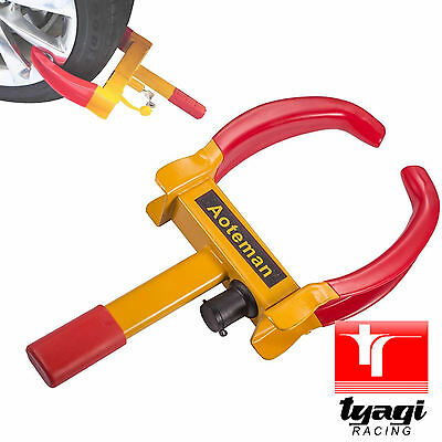 Wheel Tyre Lock Motorbike Moped ATV Anti-theft Car Van Trailer Scooter Tire Safe
