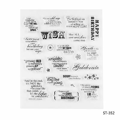 Wishes Words Design Clear Stamp for DIY Scrapbooking Photo Album Decor Sheets