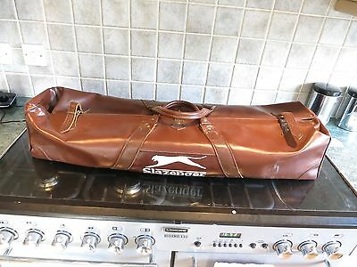 Slazenger leather cricket kit bag vintage