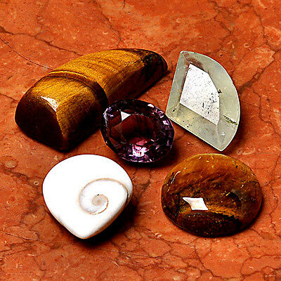Wholesale Lot 5 Pcs Tiger Eye Gemstone Cabochon Loose  AUG76