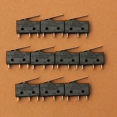 10x SPDT Straight Hinge Roller Lever Momentary Micro Switch KW11-3Z 5A 250V 3PIN