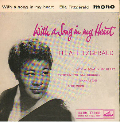 "Ella Fitzgerald With A Song In My Heart EP 7"" vinyl single record UK 7EG8503"