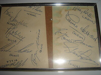 Autographs From The 50S/60Sbobby Robson Vic Crowe Stan Lynn Maurice Setters