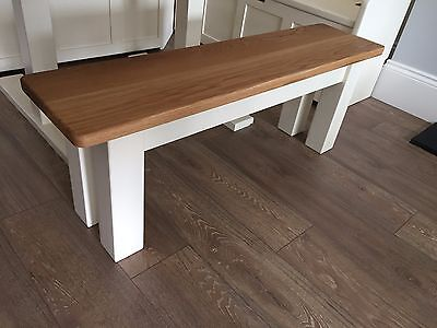 6ft Solid Wood Farmhouse Dining Bench Square Legs