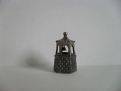Pewter Thimble = Old English Bell Tower