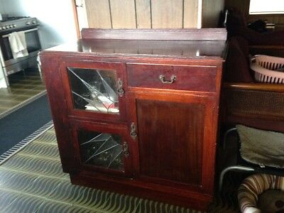 antique cabinet with lead lighting glass