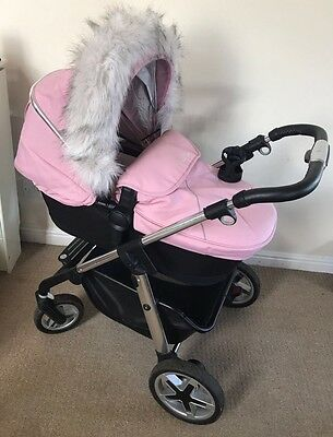 Silver Cross Pioneer Vintage Pink Full Travel System With Car Seat