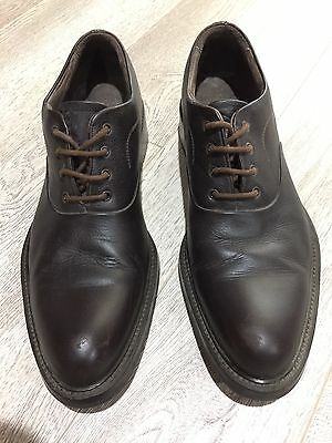 Giorgio Armani Brown Leather Mens Lace Up Brogues Size 44.5