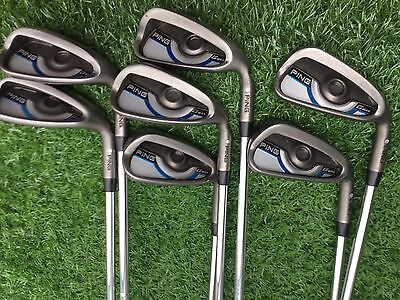 Ping G Max Iron Set 5 To Sand Wedge STD Length Silver Lie Very Nice