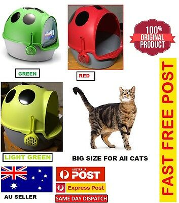 New Cat Pet Toilet Litter Box Tray Portable Hooded House Handle Scoop Carrier Au