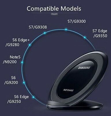 Cargador inalambrico QI Samsung Galaxy S6/S7 Edge Note-5 7 Qi Wireless Charger