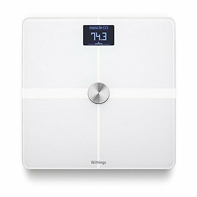 Withings WiFi Body Composition Scales NEW Wi-Fi Bluetooth Smart Scale WHITE