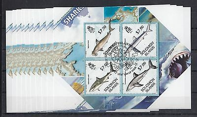 DM173 - 10x Solomon Islands - CTO - Nature - Animals - Marine Life - Sharks