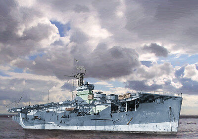 Hms Atheling - Limited Edition Art (25)
