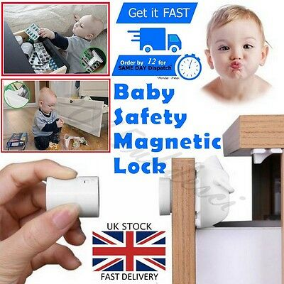 Magnetic Baby Safety Lock Child Kids Pet Proof Cupboard Cabinet Drawer Home