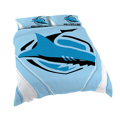 Cronulla Sharks 2017 NRL Quilt Cover Set Single Double Queen King Pillowcase