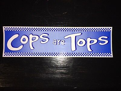 """""""Cops are Tops"""" Decal Stickers"""