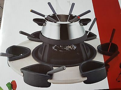 Stainless Steel Fondue Set for Six