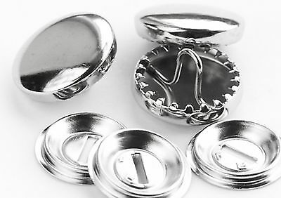 Metal Self Cover Buttons x 10 Pieces 11m 15mm 19mm  23mm, 29mm,  38mm FREE POST