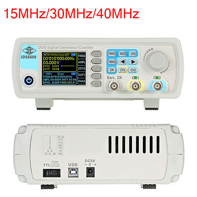 15/30/40MHz Dual-channel DDS Arbitrary Waveform Function Signal Generator Kit