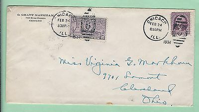 mjstampshobby 1934 US Special Delivery Used Cover (Lot2390L)