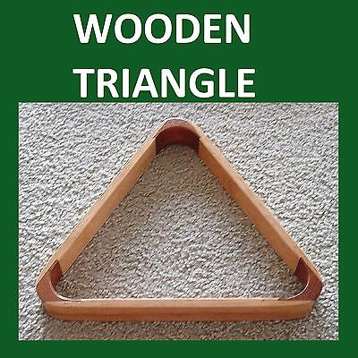 """"""" WOODEN """"  Triangle FOR 2""""  BALLS * POOL / SNOOKER ***   eofy 2016"""