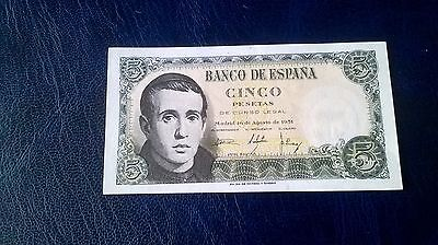 1 X old Spanish Banknote in unc condition 1954