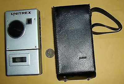 VINTAGE LATE 1970s UNITREX MICRO CASSETTE RECORDER WITH EARPHONE
