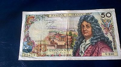 "1 X French Banknote in ""F"" condition"