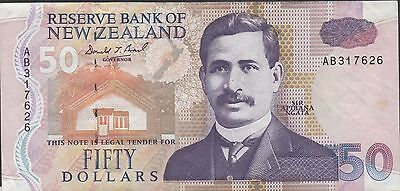 New Zealand $50 ND. 1992 P 180 Prefix AB Circulated Banknote