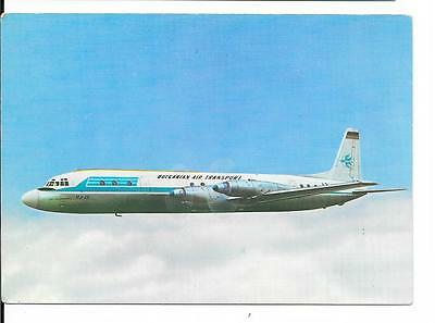 Airline issue postcard-Bulgarian Air  Transport  TABSO IL18 aircraft