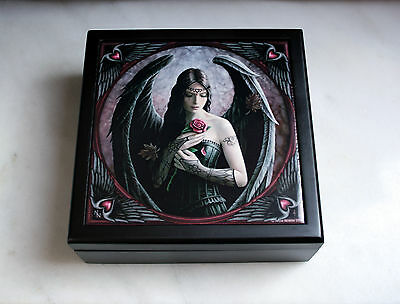 Angel Rose Large Tile Box By Anne Stokes
