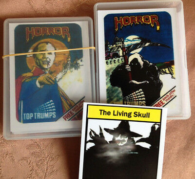 Playing Cards, Top Trumps Reproduction, Horror Card Game, Devil Priest, Dracula
