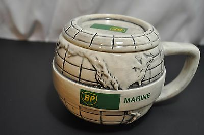British Petroleum BP Gas Oil Marine Advertising Mug With Lid 4 x 3 1/2""