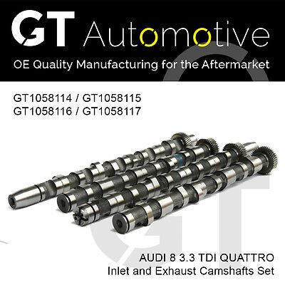 Audi 4 Piece Camshaft Set For A8 Akf 3.3 Tdi Quattro Engines