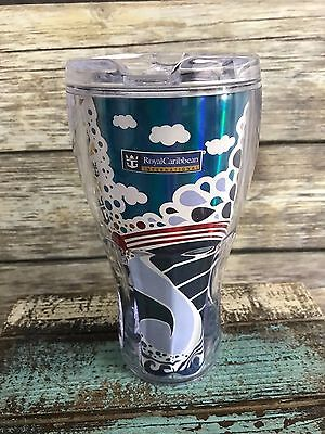 Cruise Royal Caribbean Coca-Cola Insulated Tumbler Cup Whirley Drink Works 7.5""