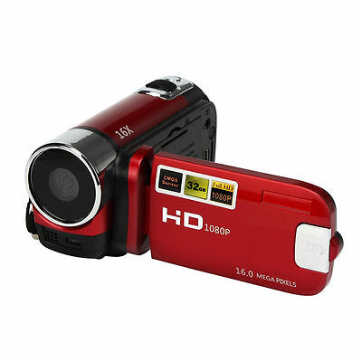 VIDEOCAMERA FULL HD 1080p 16 MEGAPIXEL ZOOM 16X LED CMOS STABILIZZATORE IMMAGINE