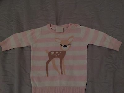 Seed Baby Girl Deer Fawn Jumper Size 00