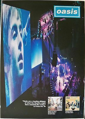Original 1995  UK Promo Poster Oasis What's the Story Morning Glory NOS